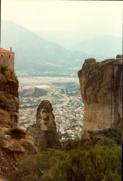My Adventures Touring Europe in 1982 (14) Greece Meteora Monasteries