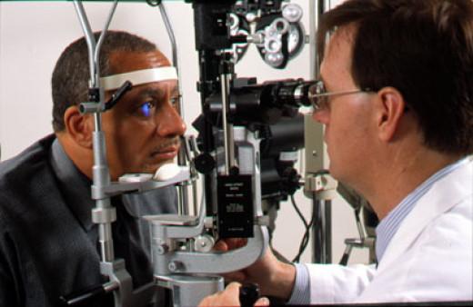 An eye exam.