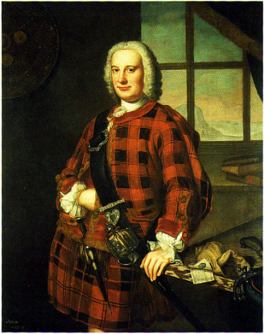 William Mosman portrait of John Campbell of the Bank, 1749.