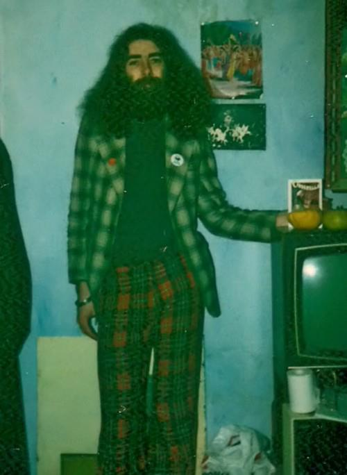 Bard of Ely as he once was wearing his tartan flares and tartan jacket.