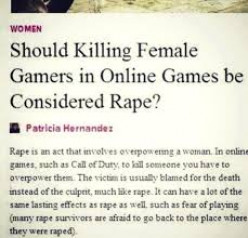 Video Games and Feminism Should not Mix