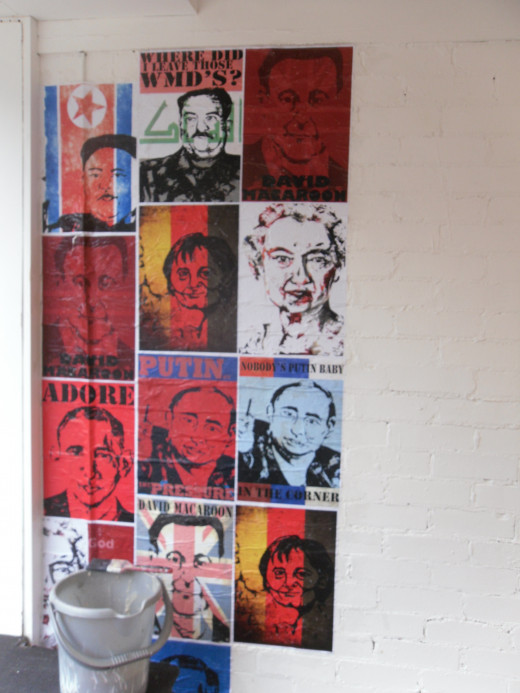 Here is an example of what you can do with wheat paste, in the initial stages of one of my poster art pieces.