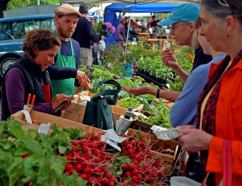 Vegetables and fruits are more economical and fresher at your local farmers markets.