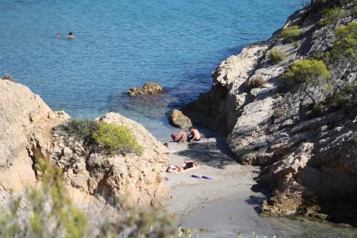 Beach Cove in L'Ampolla, Spain
