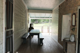 Early Southern homes had a breezeway to separate the hot kitchen from the living side.