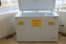 DC power freezers and refrigerators are available for off grid use.