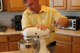 Amish converted hand crank mixer