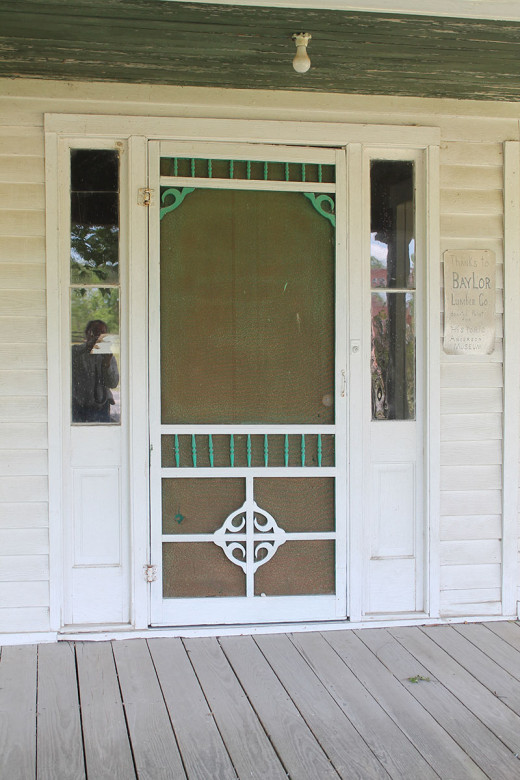 Screen doors were common for outside air ventilation.