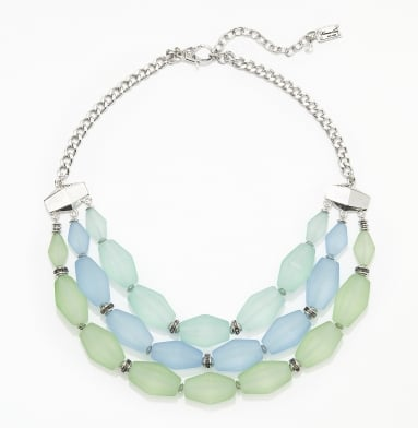 Kenneth Cole Beaded Triple Row necklace