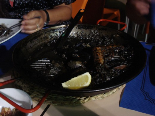L'Ampolla, Spain - Black Rice with Squid