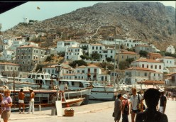 My Adventures Touring Europe in 1982 (16) Hydra and Corinth