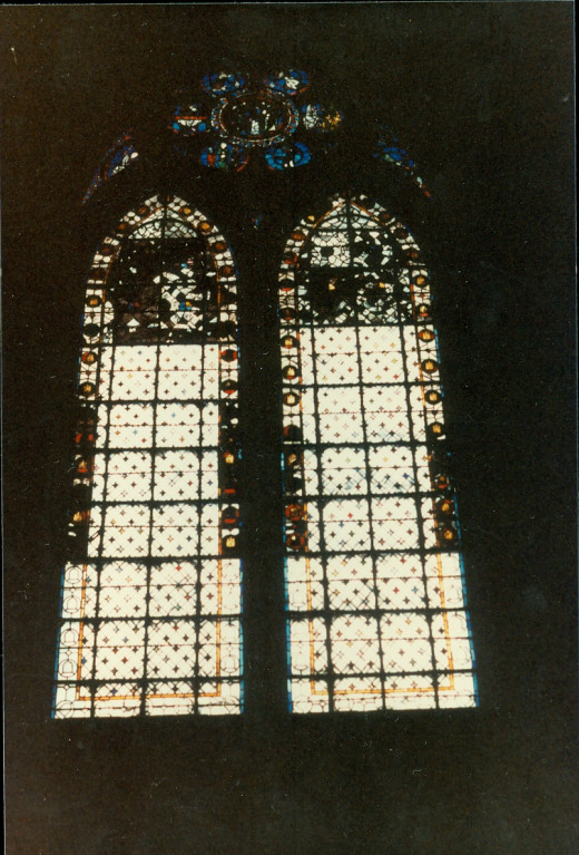 A window in Notre Dame