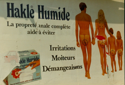 Can you believe this ad for hemmorhoid medicine?!
