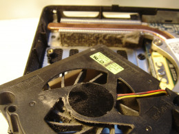 Before cleaning, there was dust on the fan and the vent.