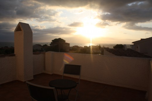 The Sunrise - L'Perrelo, L'Ampola, Spain - viewing from the solarium