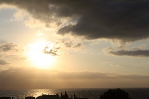 The Sunrise - L'Perrelo, L'Ampola, Spain - viewing from the solarium