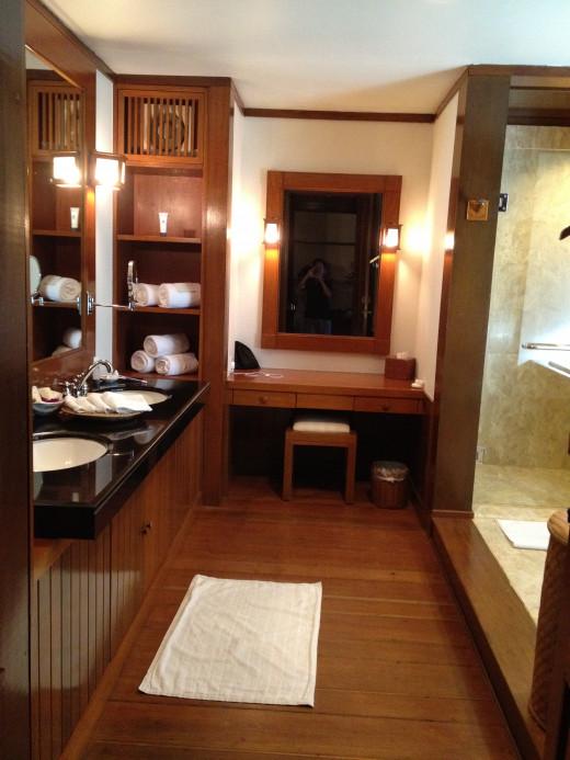 Our vanity room