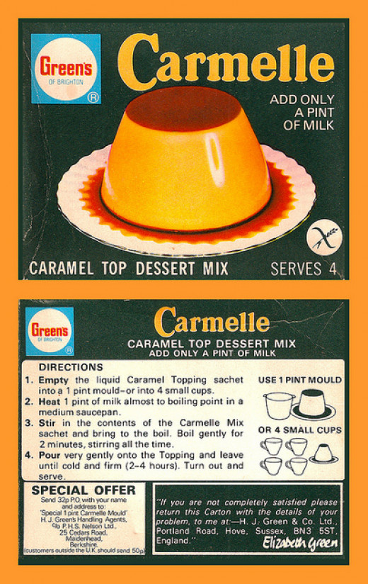 Caramel Dessert topping containing Carrageenan