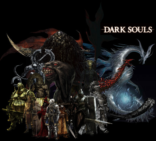some of the various characters in Dark Souls.