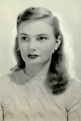 My mother, as a young woman