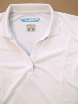 Certain shirts, like Columbia's Performance Fishing Gear with Omni-Freeze fabric, can fetch decent profits. This shirt cost $1.50 at a local thrift shop and sold for $19.99.
