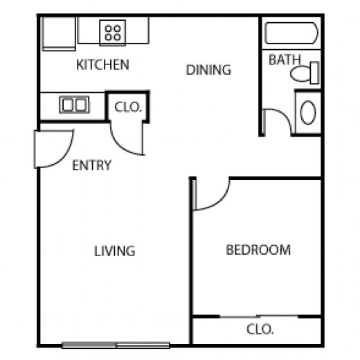 Line art floor plans provide information to help Buyers see themselves in the home