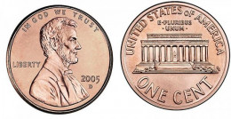 2005 Lincoln Memorial Small Cent