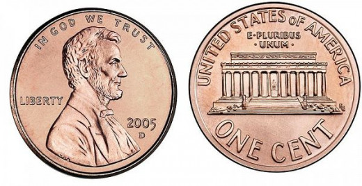 2005 Lincoln Memorial Small Cent