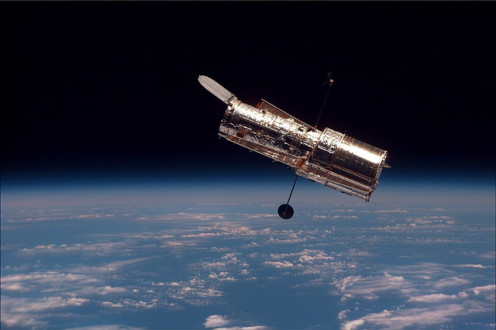 Hubble Telescope. Planetary Resources, Inc. Has made a new group of  telescopes in space a time sharing opportunithy for the public and schools.