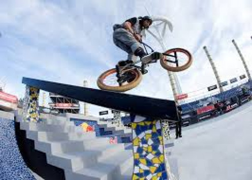 BMX Biking is a part of the X Games. It can be both exhilarating just to watch but at the same  time it is a very dangerous sport. Much training goes into this daring activity and endurance and stamina along with extreme focus is what sets the winner