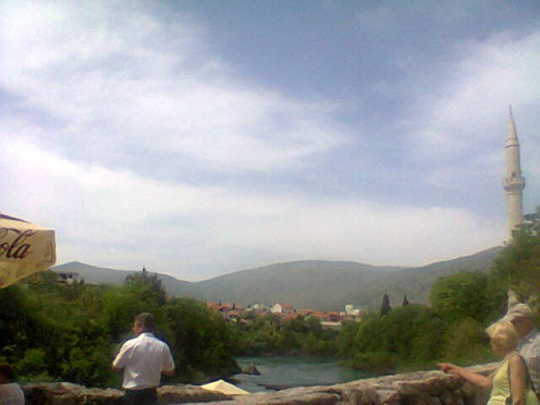 A view of  some the hills and of the river