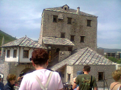 Old ruined buildings from the wartime