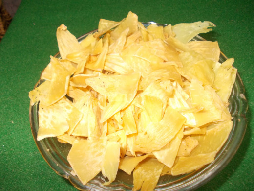 Bread fruit Chips.