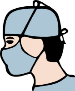 Salmonella is contagious so masks had to be worn in the hospital.