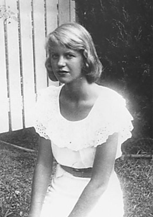 A young Sylvia Plath