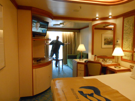 There are a variety of stateroom categories. Only you can decide what is best for your dream vacation. Inside cabins are cheapest but don't have windows. Here's a mini suite with balcony on The Sapphire Princess ship.