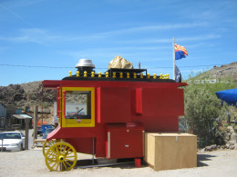 A cool old coach parked in Oatman, Arizona