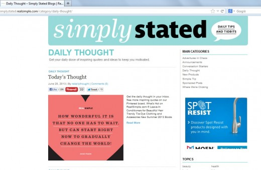screen capture from the site SimplyStated