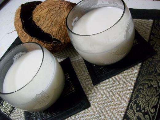 Fresh Homemade Coconut Milk