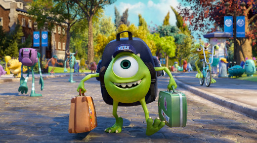 Mike Wazowski (Billy Crystal) is off to college in this summer's Pixar release, Monsters University