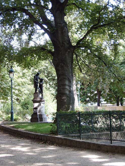 Jean Leclaire statue, by Jules Dalou, Square des Epinettes, Paris