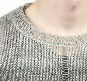 Not all sweaters can be embroidered, especially those with very loose knits.
