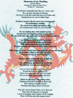Poem: Memories of Our Wedding/The Dragon Tattoo
