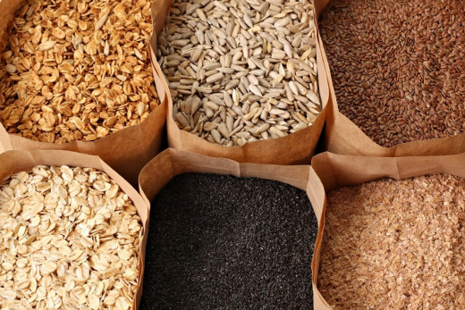 Whole grains are an excellent source of carbs for diabetes patients