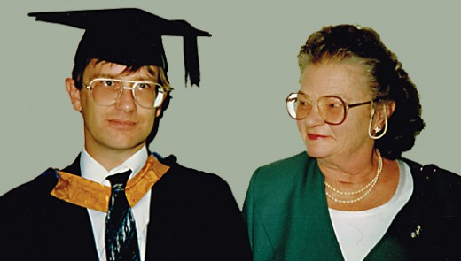 My graduation ceremony in 1996