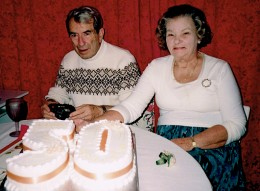 Golden Wedding celebrations for my parents in 2001 - 7 months before we lost mum