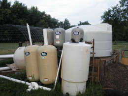 These six tanks will allow us to add systems as we go and to aide in cleaning and maintenance of the garden's individual systems without shutting down the others.