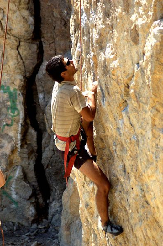 Rock climbing is a great challenge!
