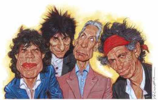 The Rolling Stones features lead singer Mick Jagger.