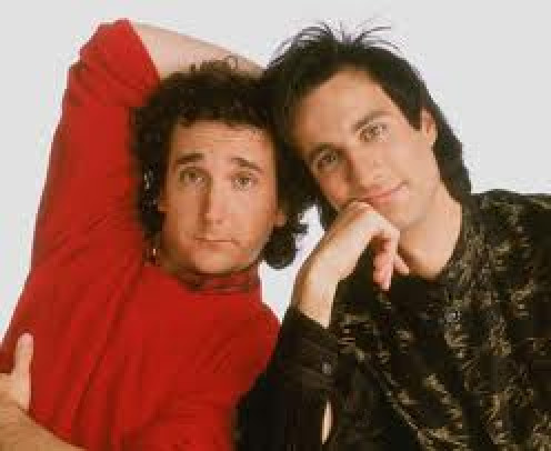 Cousin Larry and his foreigner buddy in Perfect Strangers.
